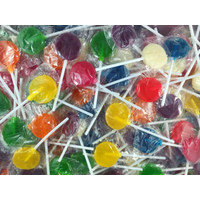 Lolly Pops - Mixed Colour Flat 1kg Bulk Lollies - Lolliland