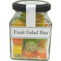 Fruit Salad Rock Candy Boiled Lollies 130g Jars - Packed In Boxes of 12